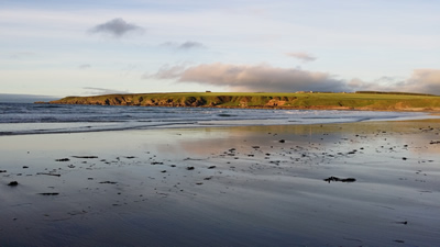 Picture of View From Sandend Beach Looking towards Redhythe Farm Holiday Cottage.